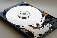 inside of a computer portable hard disk drive