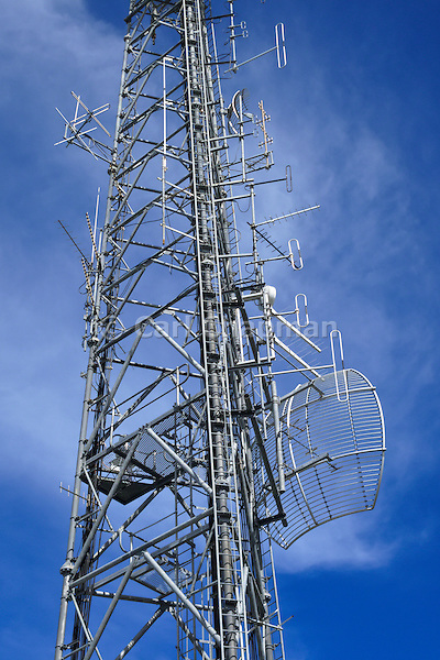 GSM and CDMA cellsite antenna and communications array for the cellular telephone system on a tower.