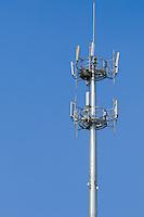 Cellsite cellular base station antenna pole tower array